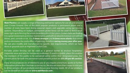 WP Cricket Flyer