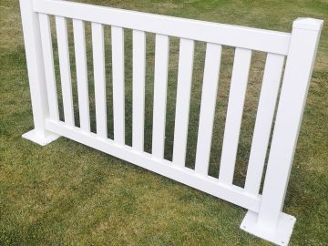 White Portable Flat Top Picket Fencing