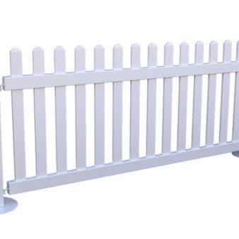 Temporary PVC Picket Fence