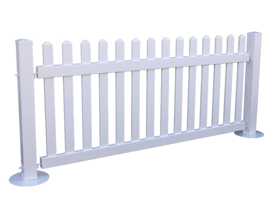 Temporary PVC Picket Fence